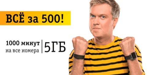 тариф все за 500 билайн